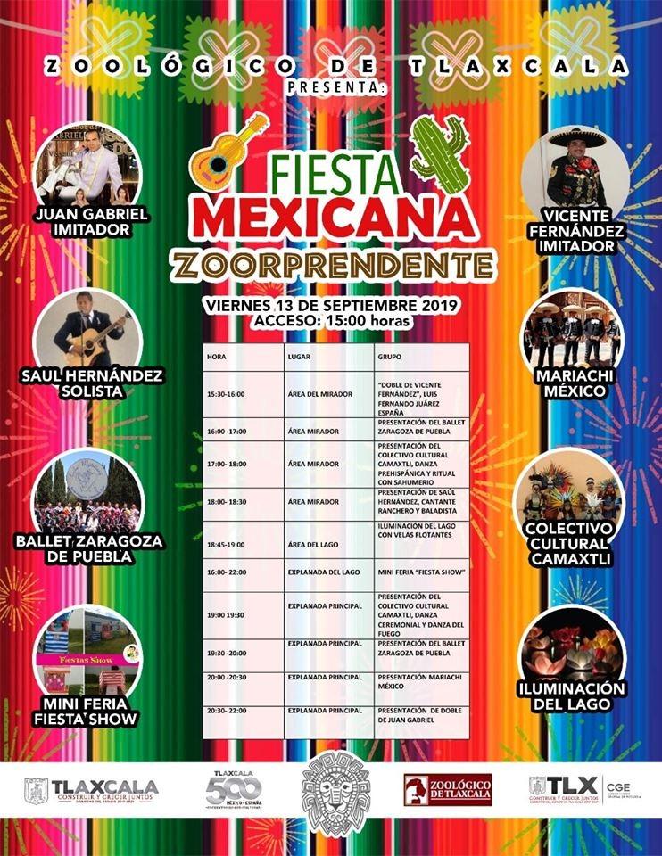 """Celebrara CGE """"FIESTA MEXICANA"""" en el zoológico deTlaxcala"""