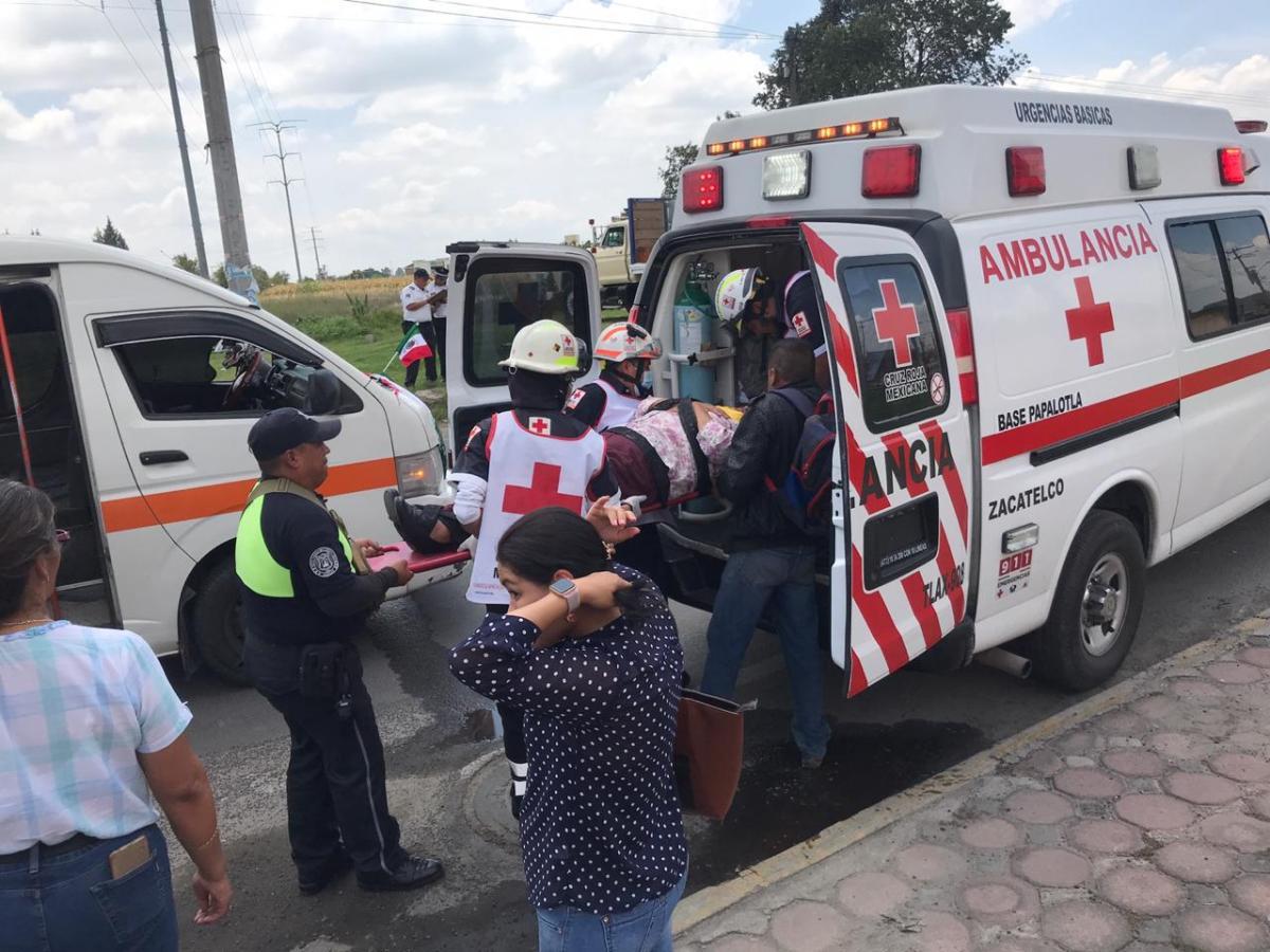 Deja lesionados choque en la Zacatelco-ayometla