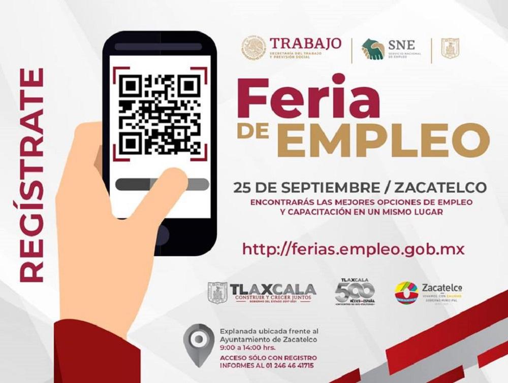 Organiza SEPUEDE feria de empleo en Zacatelco, 19 empresas ofertarán 388vacantes
