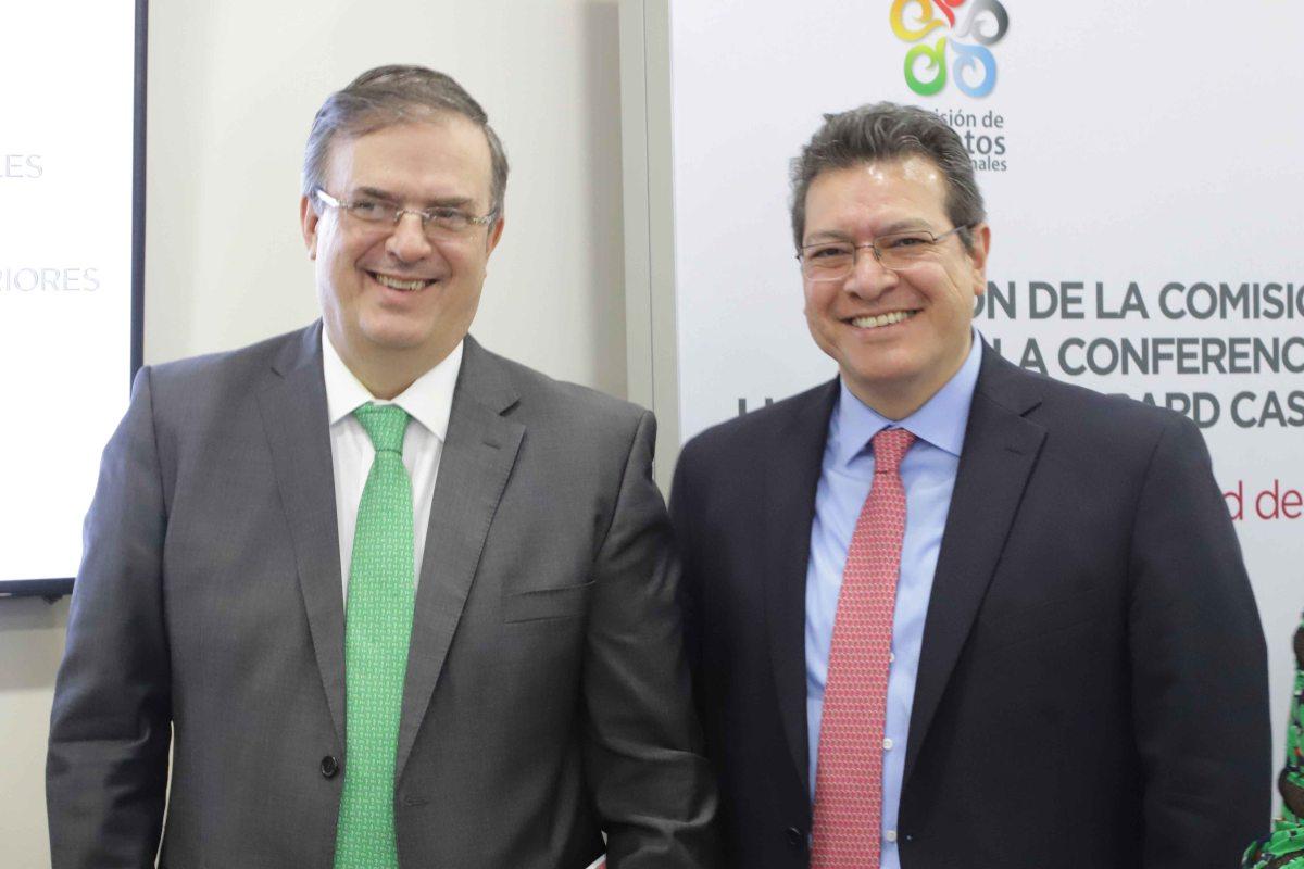 Participa Marco Mena en reunion de conago con Marcelo ebrard secretario de relacionesexteriores