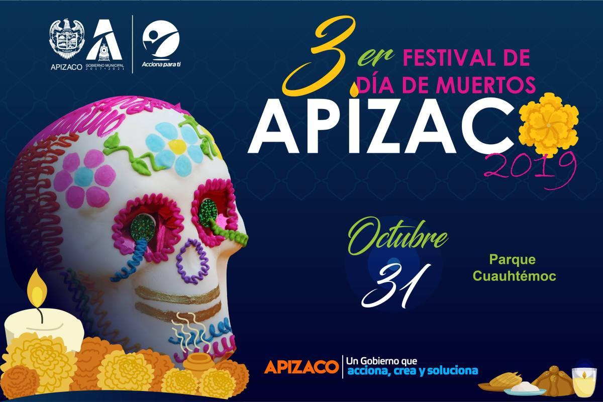 Se alista Apizaco para su Tercer Festival de Día de Muertos2019