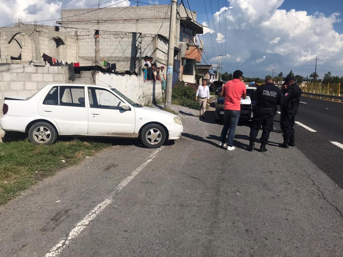 Accidente particular en la Tlaxcala-SanMartín