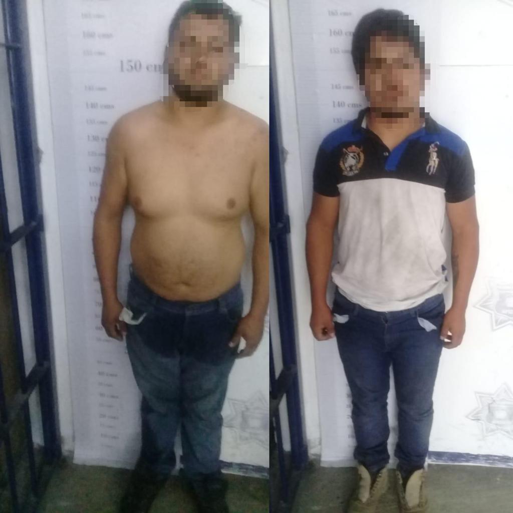 En intensa persecución, asegura Policía de Apizaco a dos por arrollar a unoficial