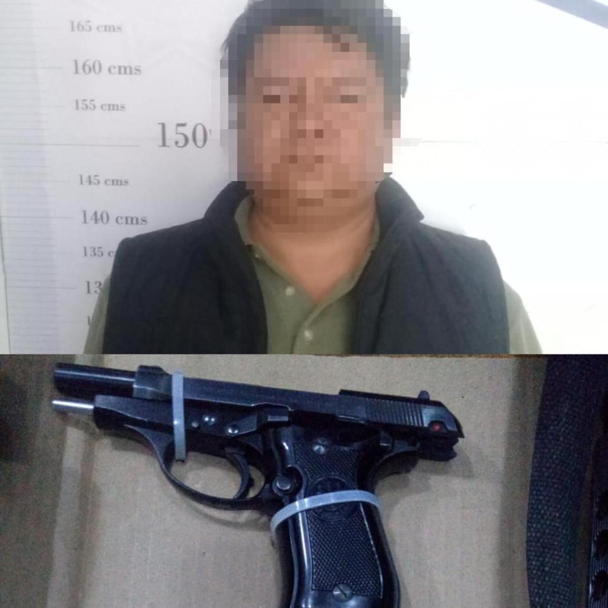 Aseguran a sujeto armado enApizaco