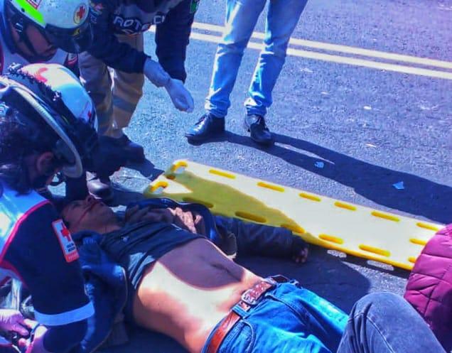 Herido grave deja choque en laApizaco-Tlaxco