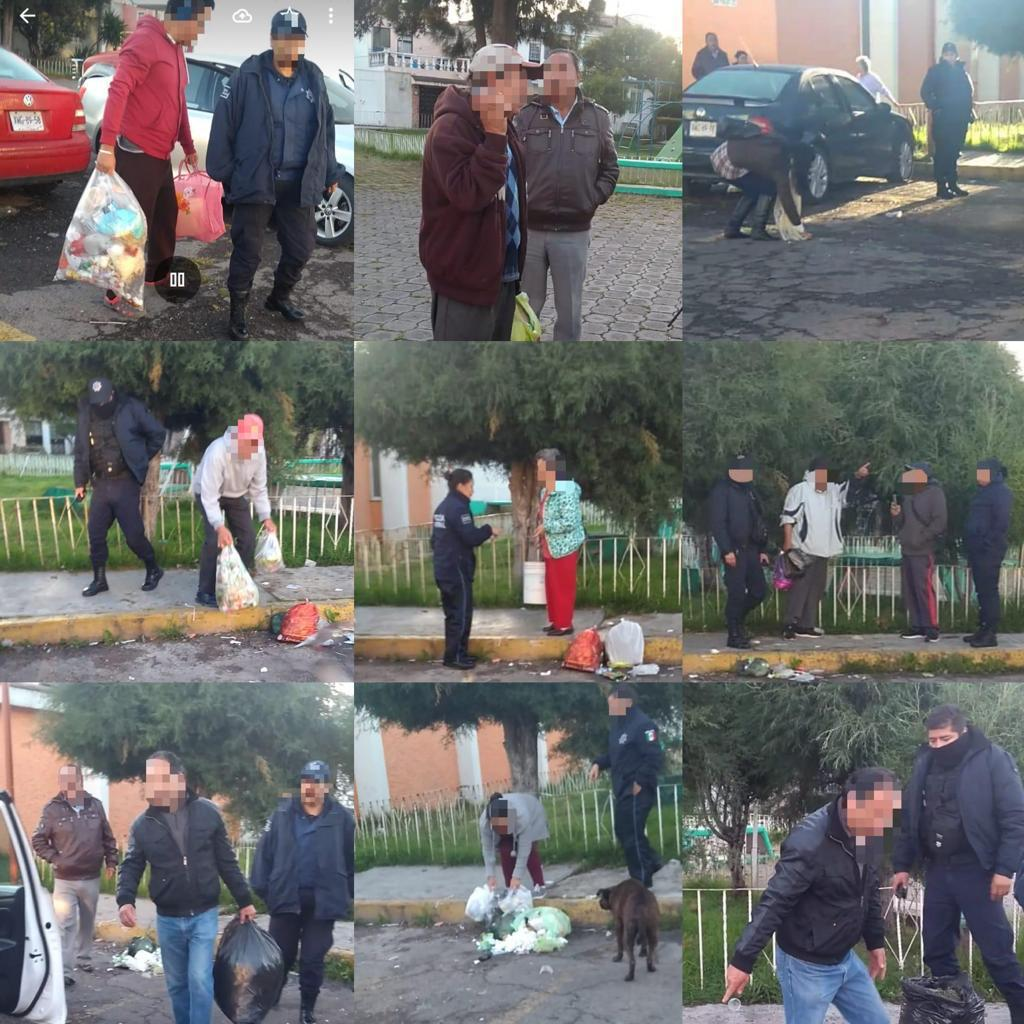 Por tirar basura en la calle, al Juez 10 personas enApizaco