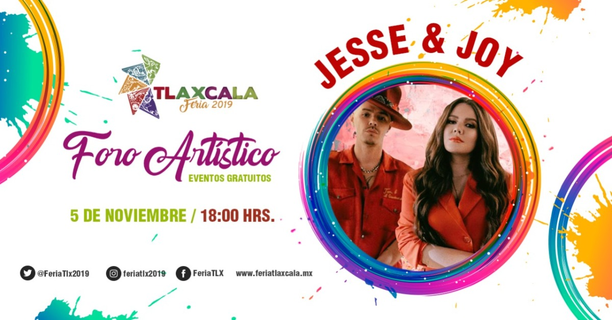 Tlaxcala Feria 2019 presenta a Jesse y Hoy enconcierto