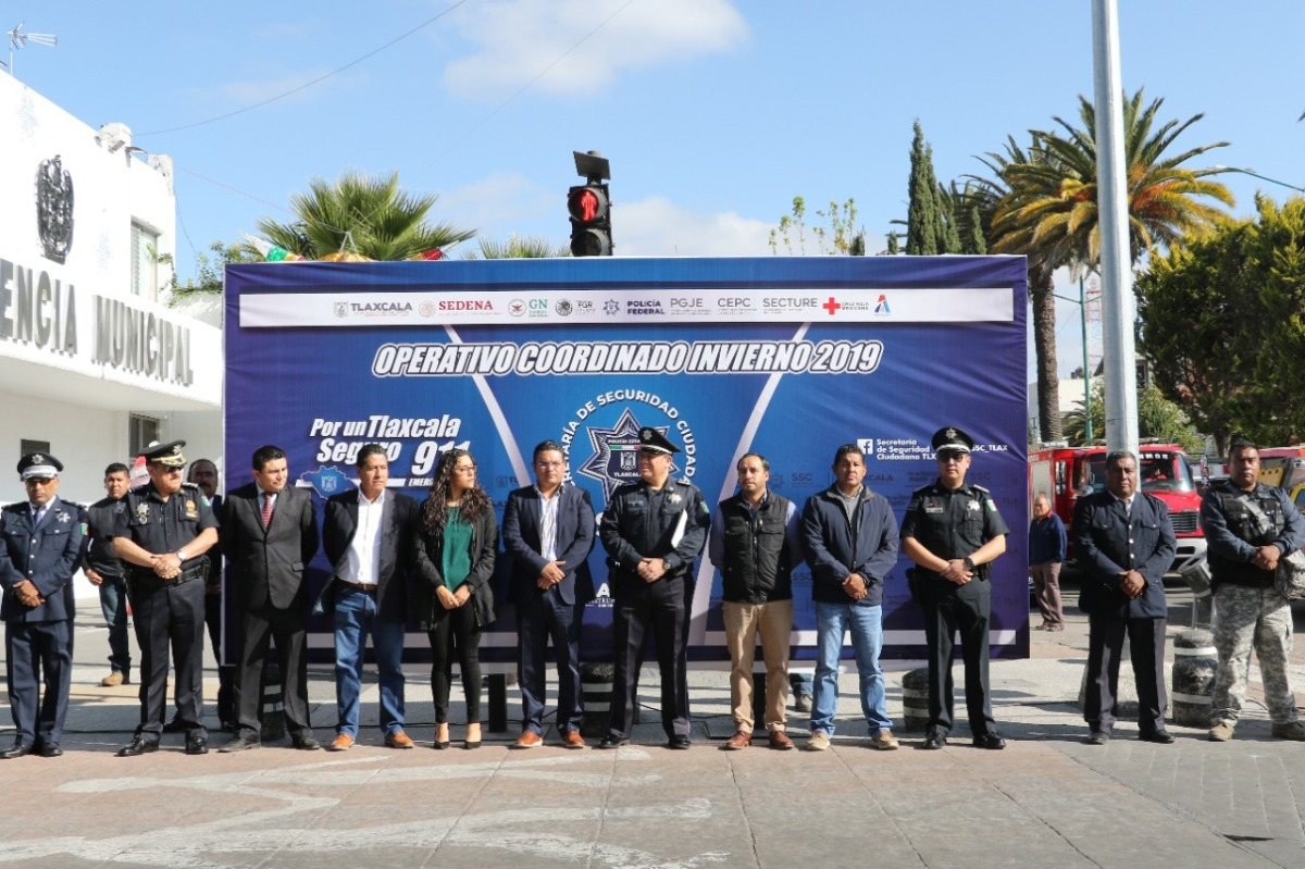 Arranca Operativo Coordinado Decembrino 2019 en Apizaco
