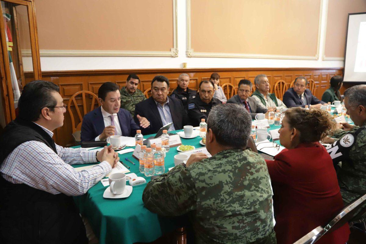 Marco Mena y secretaría de seguridad y protección ciudadana consolidan mesas de coordinaciónregional