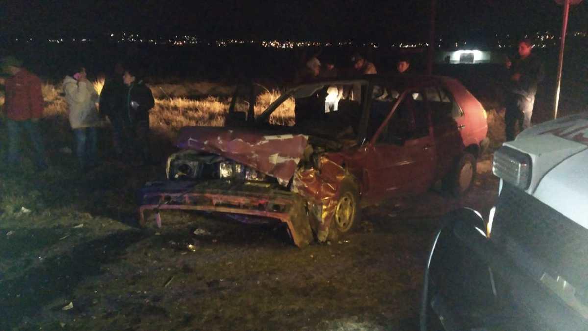 Dos heridos deja choque frontal enYauhquemehcan