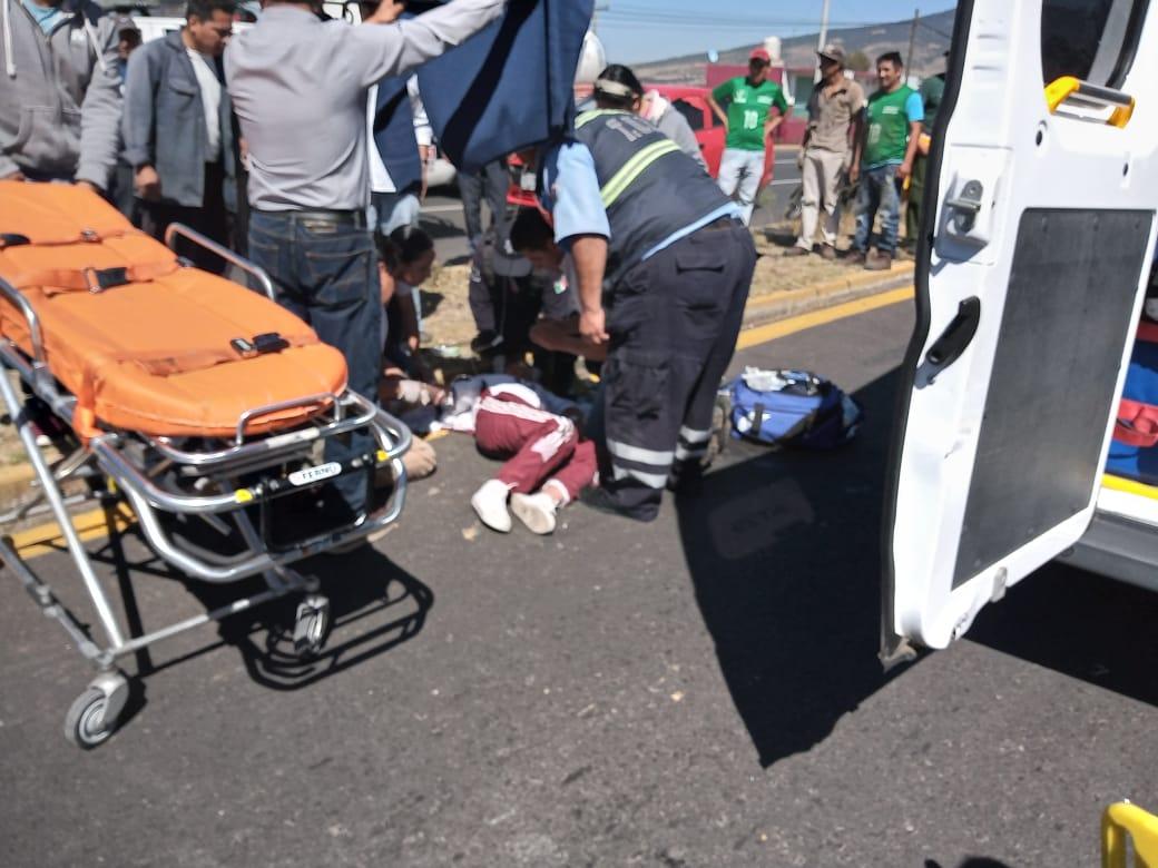 Sufre atropellamiento menor en laApizaco-Tlaxco