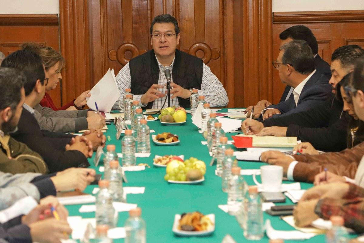 Marco Mena encabeza reunión de coordinación con los programas federales enTlaxcala