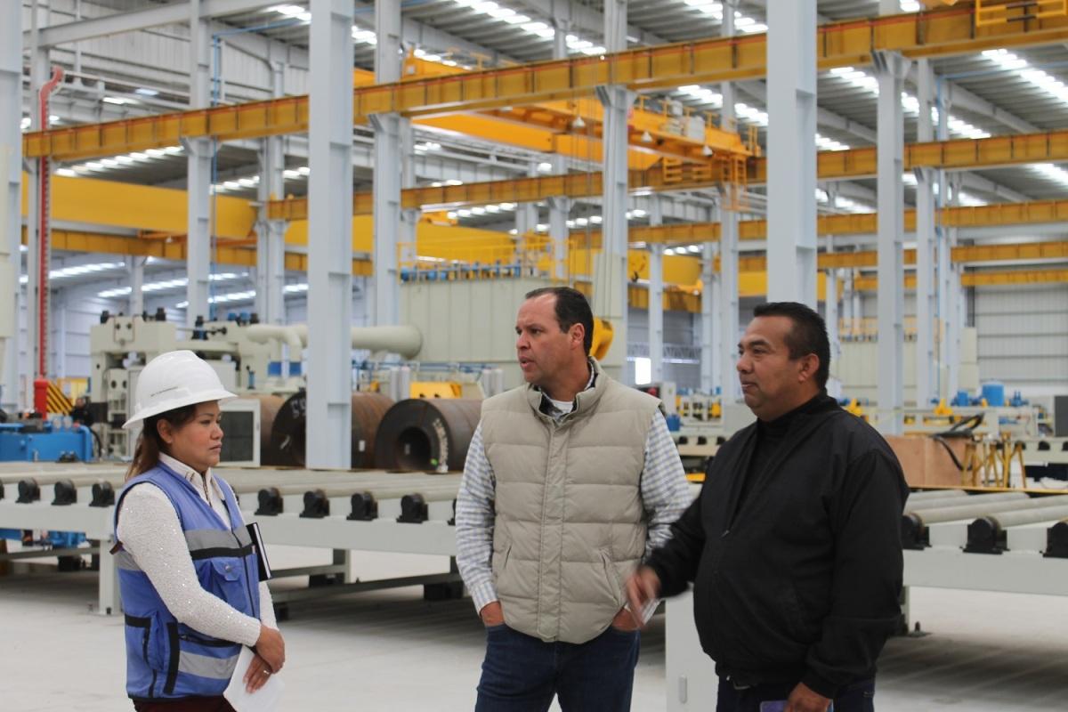 Verifica SEDECO avance de nave industrial de la empresa ACEROS DELTORO