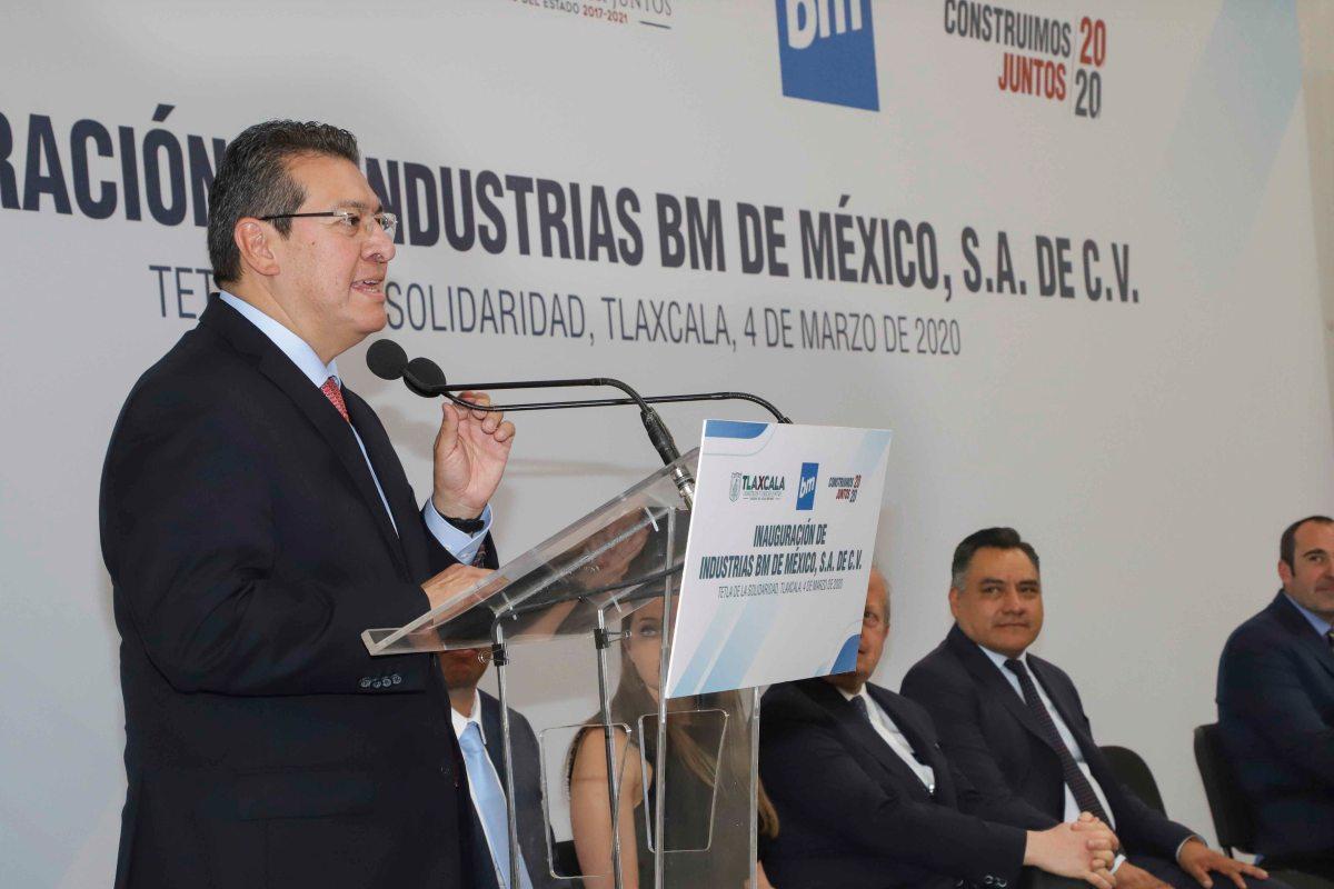 Marco Mena inaugura industrias BM de México; generará 350 nuevosempleos