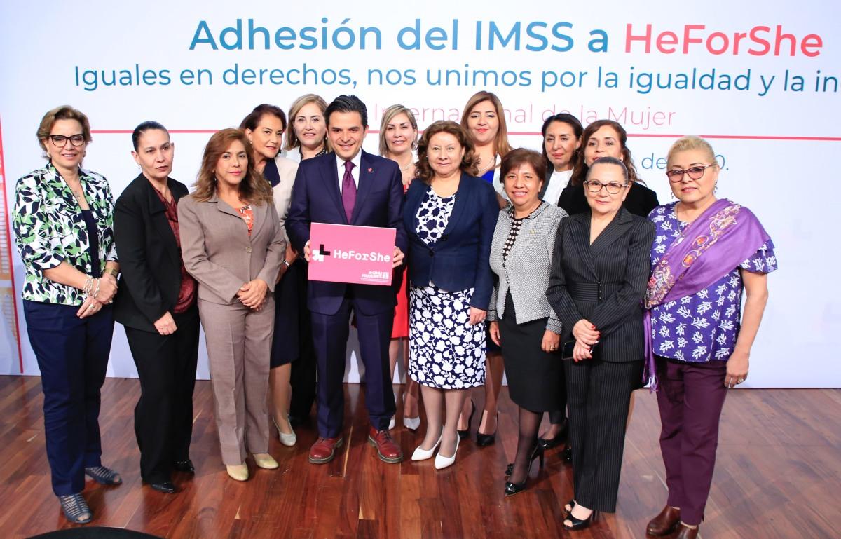 IMSS se adhiere a HeForShe en la lucha por la igualdad de género y la promoción de los derechos humanos de lasmujeres