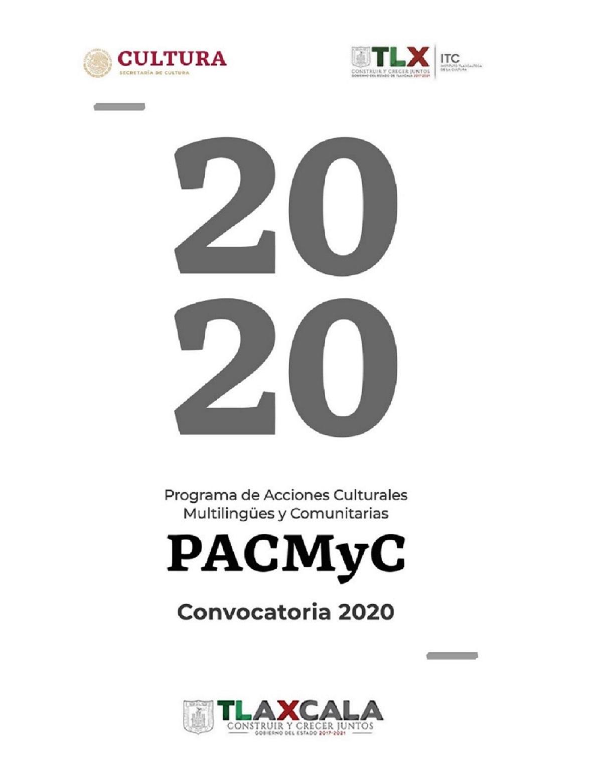 ABRE ITC CONVOCATORIA PACMYC2020