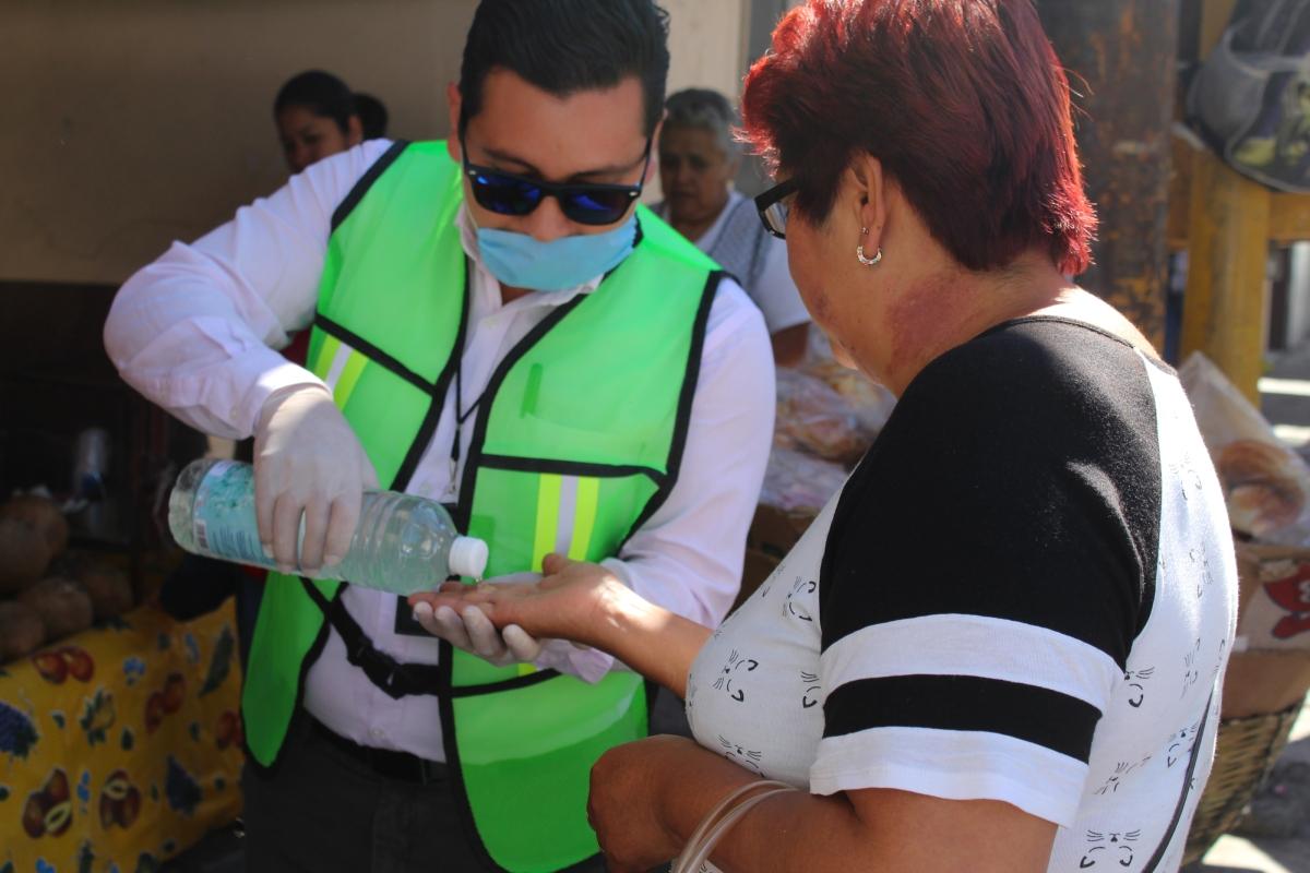 En Calpulalpan implementan acciones de higiene y limpieza para evitar contagio por COVID19