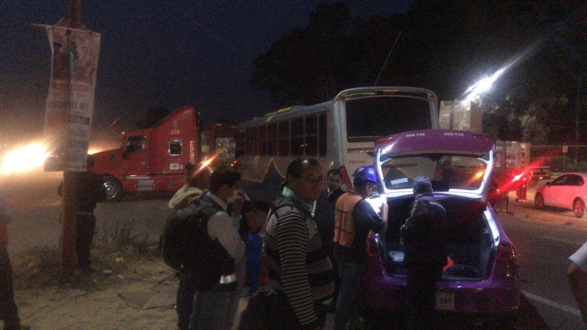 Heridos deja choque en la VíaCorta