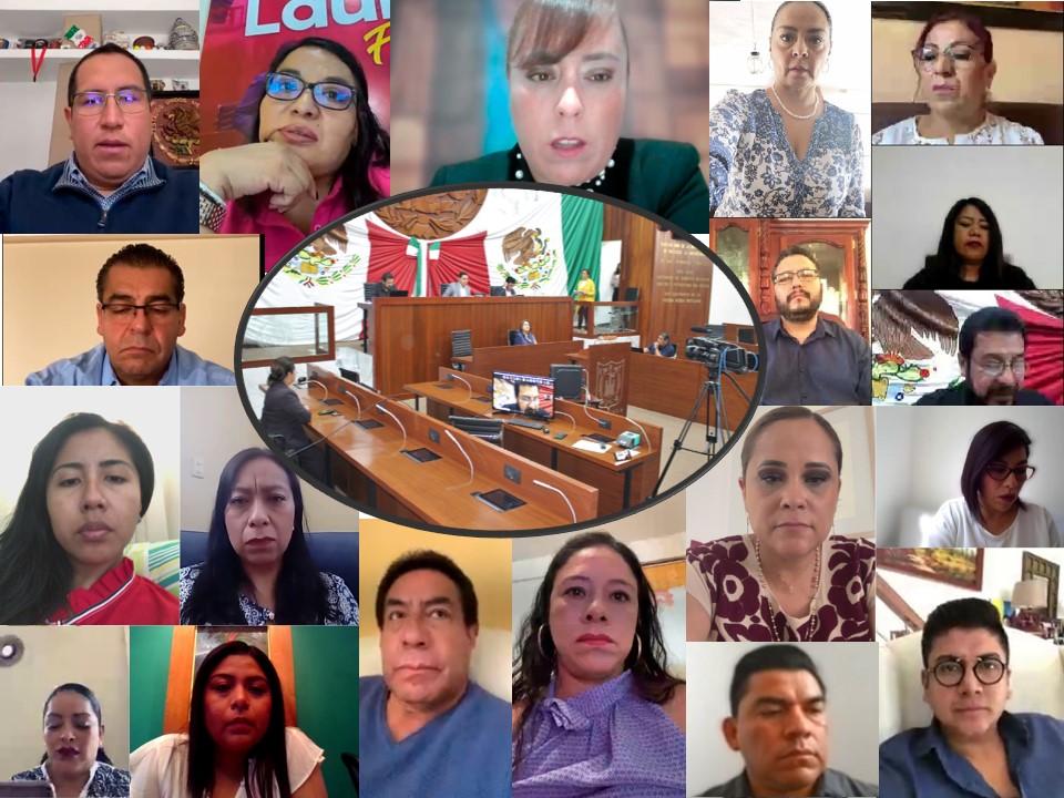 """EN SESIÓN """"ON LINE"""" APRUEBAN DIPUTADOS DE TLAXCALA MINUTA DE REFORMA CONSTITUCIONAL EN MATERIA DEBIENESTAR"""